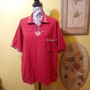 Other - Men's XL burnt orange casual shirt from Guatemala.